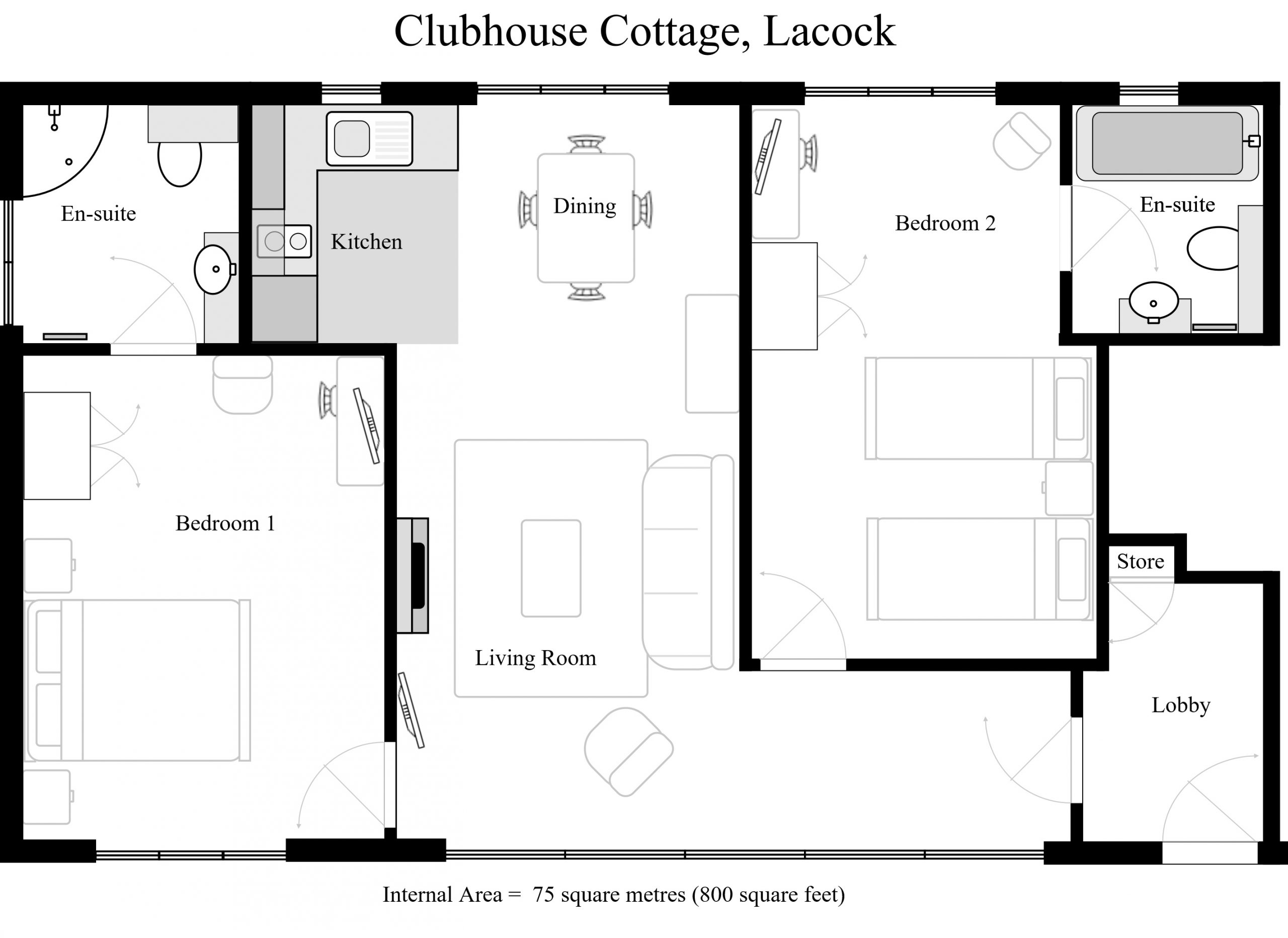 Clubhouse Cottage Layout